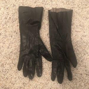 Accessories - Vintage Black Leather Driving Gloves